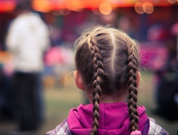 girl in braids